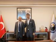 Kaymakam Abdullah Demir'den Başkan Gökhan Yüksel'e tebrik ziyareti